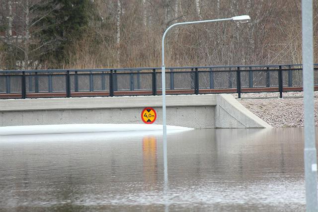 Översvämning i Skutskär, Gävleborgs län, 2013.